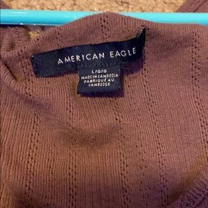 American Eagle Outfitters Tops - Dark Purple American Eagle Shirt